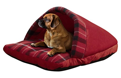 - Beatrice Home Fashions SLPPTB21RED Plaid Slipper Pet Bed, Red
