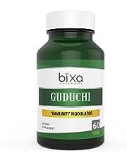 Guduchi Extract Bitters 2.5% Veg Capsule 60 Count (450mg) (Tinospora Cordifolia/Giloy) | Herbal Supplement for Sugar Control | Best Immunity modulator & blood purifier | Ayurvedic herb for Bone Health
