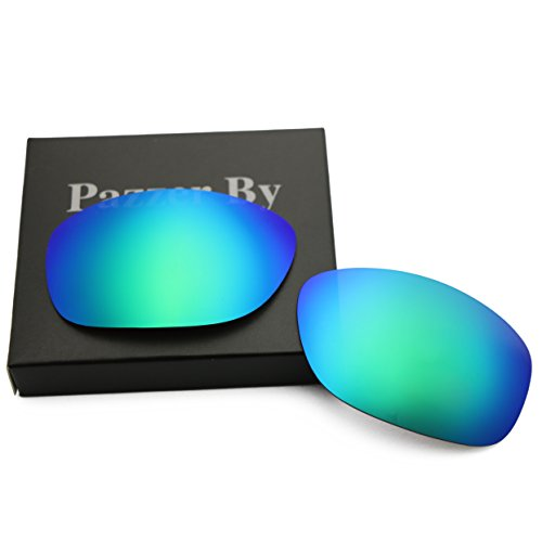 Polarized Replacement Lenses for Oakley Pit Bull - Green Mirrored - Replacement Pitbull For Oakley Lenses