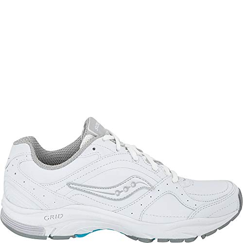 Saucony Women's ProGrid Integrity ST2 Walking Shoe,White/Silver,7.5 2A US