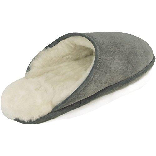 Fellhof-Da. Winterpantoffel Trendy, Grey, Grey