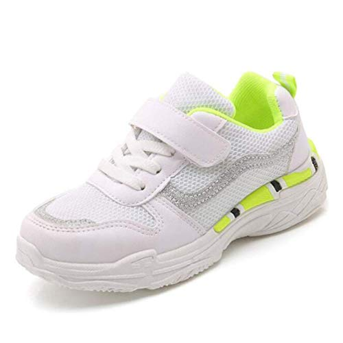 Couleur 12 Taille Running Uk Vert Sneakers Léger Sports Respirant Zhrui Enfant Unisexe Casual Vert 061v6w
