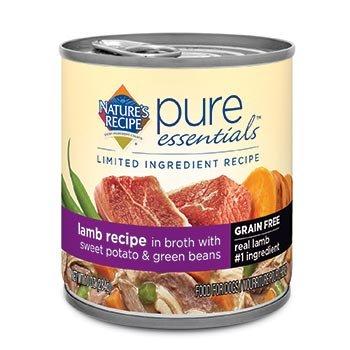 Nature's Recipe Pure Essentials Grain Free Lamb in Broth Wet Dog Food, 10 oz., Case of 24
