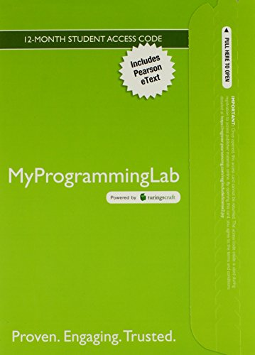 MyProgrammingLab with Pearson eText -- Access Card -- for Introduction to Programming Using Python (MyProgrammingLab (Access Codes)) by Brand: Prentice Hall
