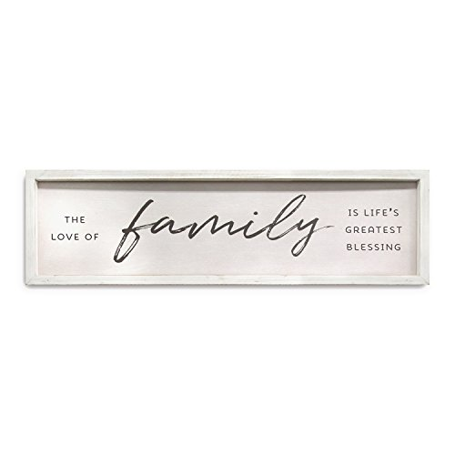 - Stratton Home Décor S11579 Family is Life's Greatest Blessings Wall Art 28.00 W X 1.00 D X 8.00 H White & Black