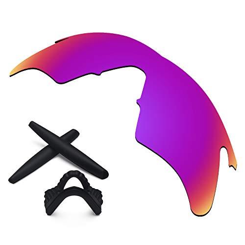 Replacement Lenses & Earsocks Rubber Kits for Oakley M Frame Heater Sunglasses (Midnight Sun-Polarized)