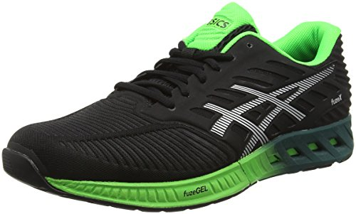 Green Black para Silver Negro Gecko Hombre Asics de Fuzex Zapatillas Running cwWqan0zR