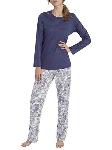 Calida Sandrine Pyjama Lang Damen Cobalt Blue QKCeNFDJD - tame.ckt ...