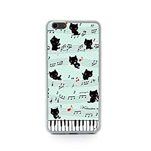 CaseCityLiu - Music Notation Cartoon Cat Design Hard Case Cover for Apple iPhone 5 5s 5th 5g 5Generation Come With FREE Non Woven Packing Bag