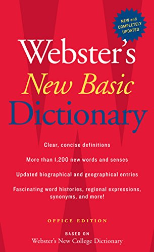 Webster's New Basic Dictionary, Office Edition