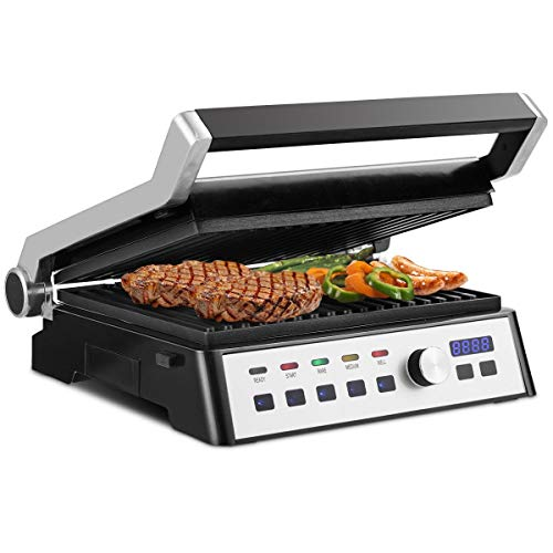Global Supplies GS-11389 1500W Electric Grill Indoor Grill with Removable Plates