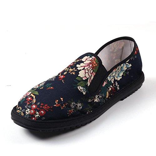 LvYuan Los zapatos tradicionales chinos unisex del paño / retro ocasional respiran los zapatos del bordado / los zapatos de Kung Fu / los artes marciales / deslizan-en los zapatos 11#