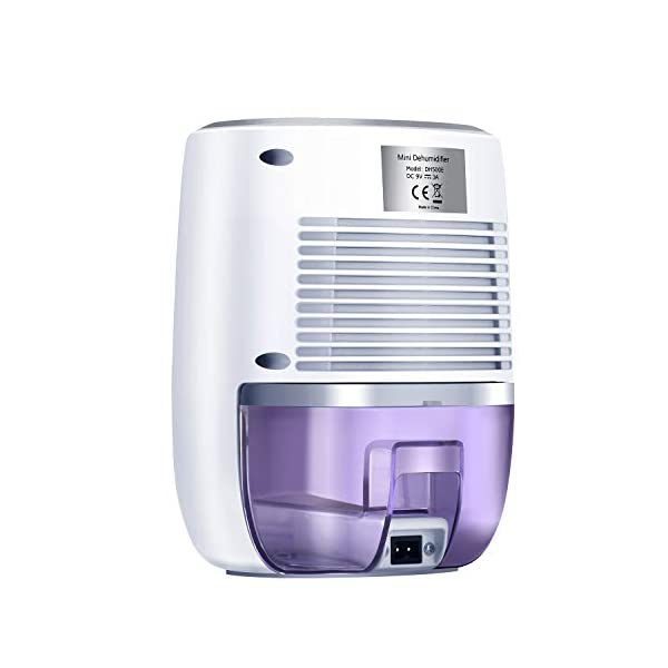 COSVII Small Dehumidifier Portable Mini Dehumidifier with 500ml Water Tank and Auto Shut-Off for Basement Bedroom Bathroom Baby Room Kitchen Office(150 sq ft)