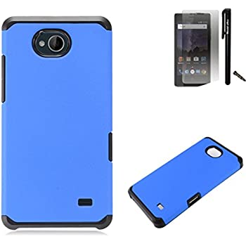newest 56d9b fb774 For ZTE Tempo N9131 / ZTE Majesty Pro LTE / ZTE Majesty Pro Plus LTE Case  Dual Layer Fusion Armor Hybrid Silicone Cover Hard Plastic Combo Pack ...