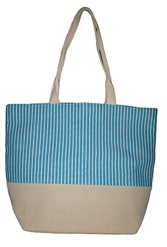 Large Nautical Stripe Print Zippered