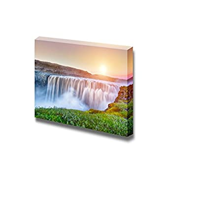 Classic Artwork, Dazzling Composition, Beautiful Scenery Landscape Powerful Waterfall Dettifoss on Iceland Home Deoration Wall Decor