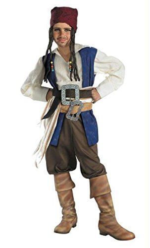 Disguise Disney Pirates Of The Caribbean Captain Jack Sparrow Classic Boys Costume, Small/4-6 (Jack Sparrow Boys Costume)