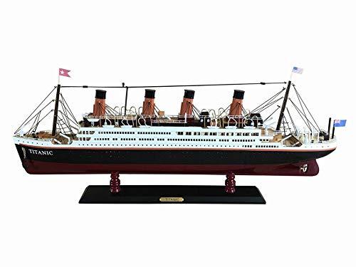Hampton Nautical  RMS Titanic 32'' Wood Replica Hampton Nautical Model Ship, Fully Assembled (Not a Kit) by Hampton Nautical