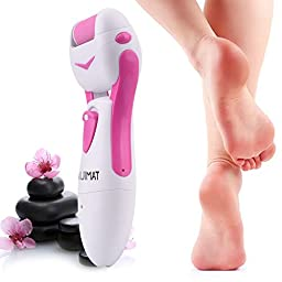 Quimat Pedicure Tools Perfect Foot File ,Electric Callus Remover for Foot Massager and Foot Spa to Remove The Coarse,Hard,Cracked,Tough,Dead Skin On Your Feet (Pink)
