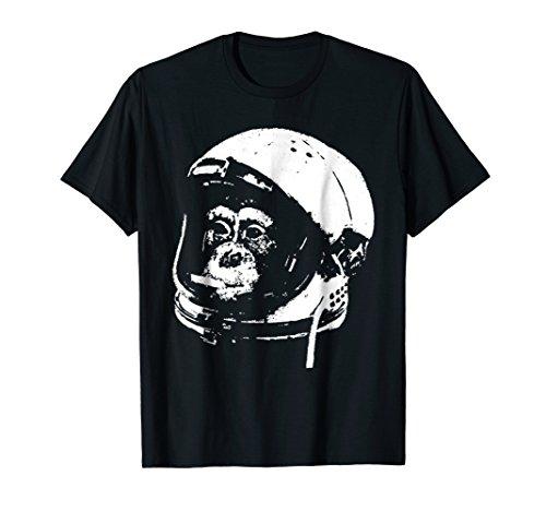Space Monkey No 65, Chimpanzee Astronaut High as a Kite Tee