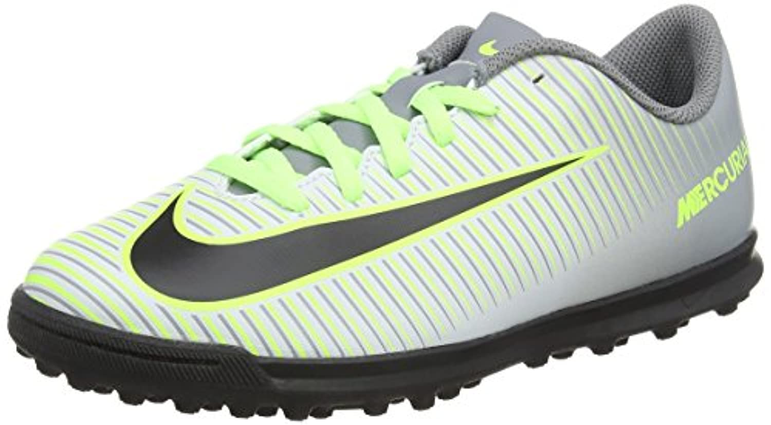 Nike Mercurial Vortex Iii Tf, Unisex Kids' Football Training, Grey (pure Platinum/black/ghost Green/clear Jade), 1 UK (33 EU)