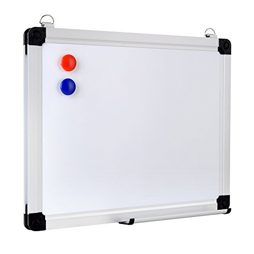 XBoard 15 x 12 Inch Magnetic Small Whiteboard Message Scoreboard with Hanging Hooks, Pen Tray and 2 Magnets, Dry Erase Board for Kids, Students & Teachers (Small Board compare prices)