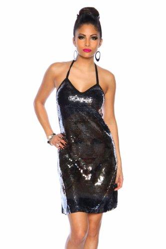 Clubkleid mit Pailletten schwarz OS