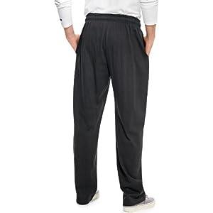 Champion Men's Authentic Open Bottom Jersey Pant, XX-Large - Granite Heather