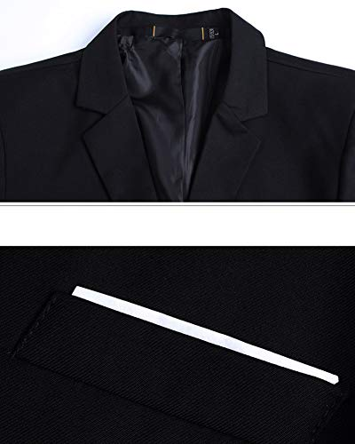 Blazer Homme 1noir Manteau Costume Slim Jacket De Veste Uw5xRqwFH