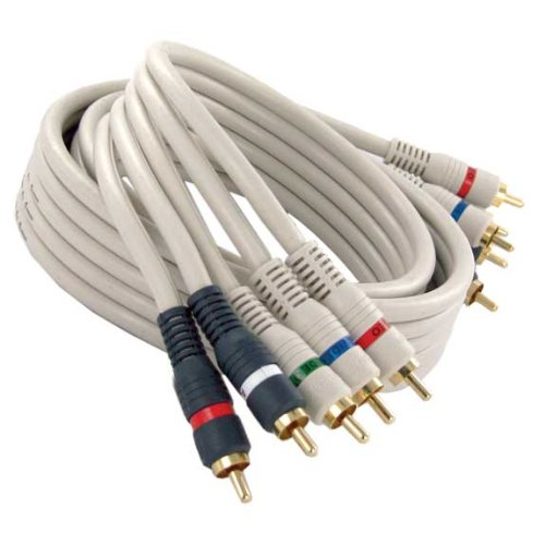 12ft Hi-Resolution Component Video - Stereo Audio RCA RGB - Red White Cable ()