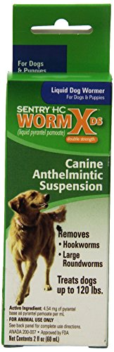 41Rsupk5n0L - SENTRY HC WormX DS (pyrantel pamoate) Canine Anthelmintic Suspension De-wormer for Dogs, 2 oz