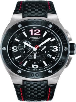 Alpina Racing 12 Hours of Sebring Chronograph Black Dial Mens Watch AL352LBR5AR6