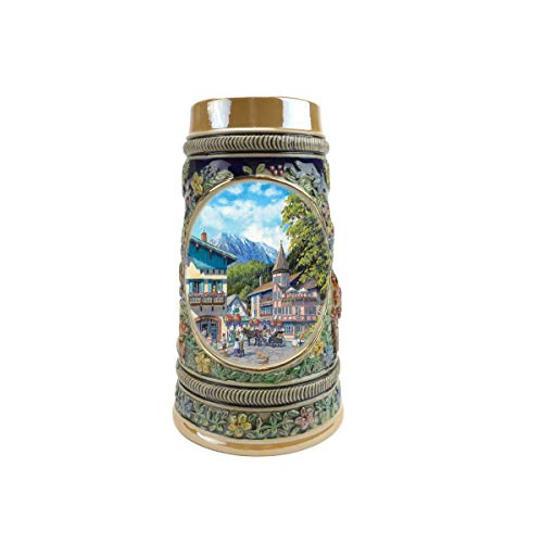 """""""Summer In Germany"""" Essence of Europe Gifts E.H.G. Collectible Ceramic Beer Stein (#1 in Collection of Four Steins)"""