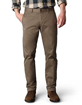Dockers Men's Alpha Khaki Slim Flat-Front Pant,Dark Pebble ,28x30