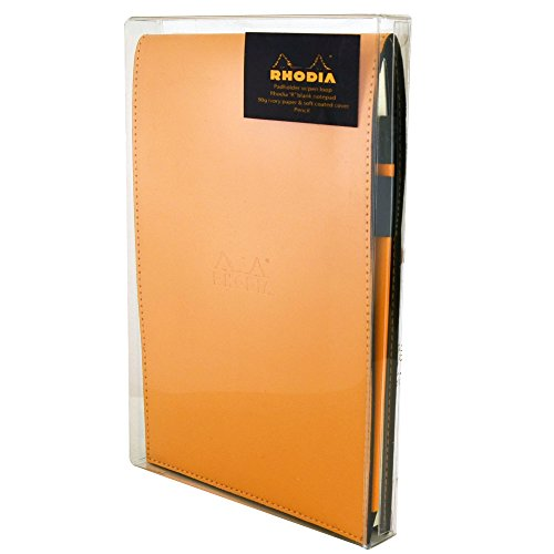 Rhodia Orange Notepad Gift Set 6X8.75 Lined