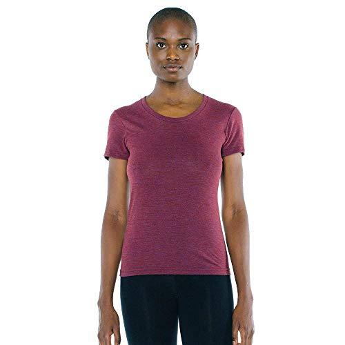 American Apparel TR301W Ladies' Triblend Short-Sleeve Track T-Shirt Tri Cranberry L