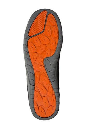 Mountain Warehouse Phantom Orange Schuhe Für Herren - Leichte Sommerschuhe, Sneaker mit Netzfutter, Atmungsaktiv, Gepolsterte Zunge - Für Wandern, Laufen, Camping, Reisen Dunkelgrau