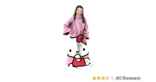 83b118032 Amazon.com: SANRIO Hello Kitty, Pink Ooo Youth Comfy Throw Blanket with  Sleeves, 48