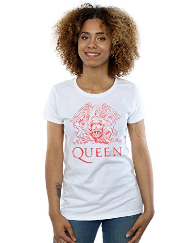 blanca Absolute Distressed Cult Crest Woman Camiseta Queen ZxYBzgg