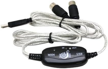 Amazon Com Usb Midi Cable Converter Pc To Music Keyboard Window Win Vista Xp Mac Os X Musical Instruments