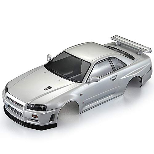 Goolsky Killerbody 48646 Nissan Skyline (R34) Finished Body Shell Frame for 1/10 Electric Touring RC Racing Car DIY (White) (Body Shell Cars Drift Rc)