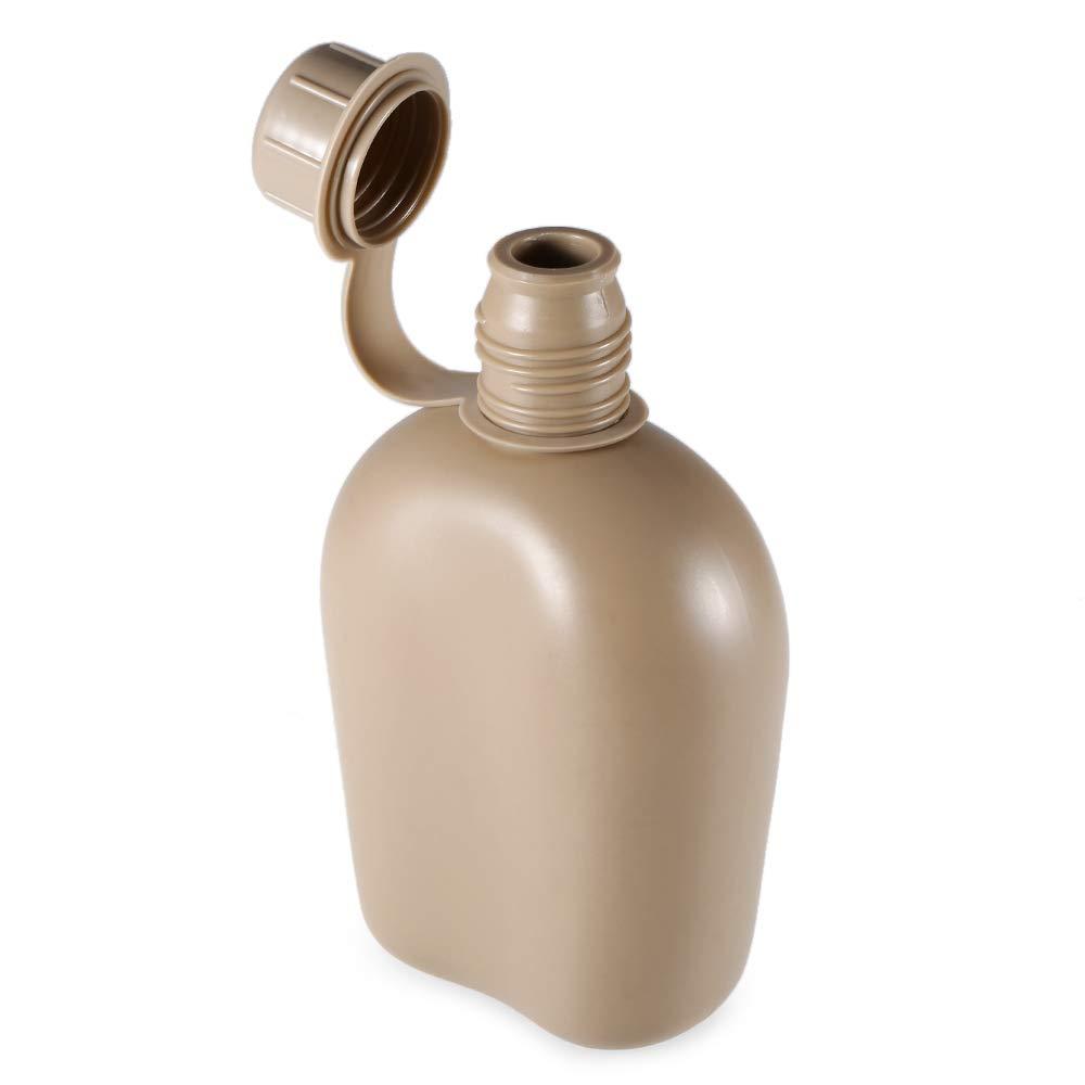 Lixada Botella de Agua de Cantina T/érmica al Aire Libre Port/átil con Cubo de la Cena Aleaci/ón de Aluminio Hervidor Estilo Militar Herramientas EDC para Acampar al Aire Libre Senderismo