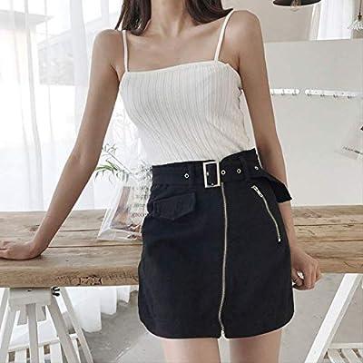 GDNTCJKY Faldas para Mujer Cintura Alta De Verano Una Línea Falda ...