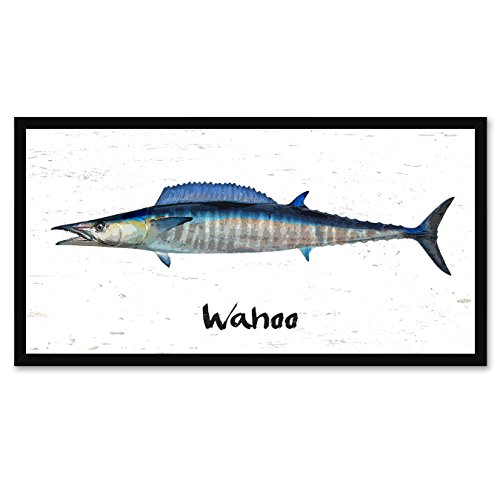 Wahoo Tuna Fish Art Canvas Print with Picture Frame Gift Ideas 7