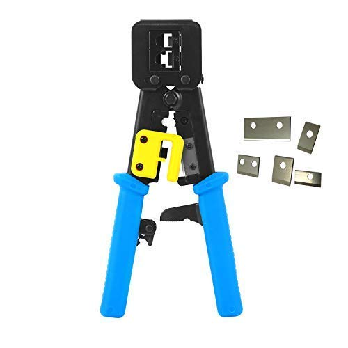 RJ45 Crimp Tool EZ Pass Through Ethernet Crimper Heavy Duty Crimping Tool for Legacy Internet - Duty Heavy Tool Crimping