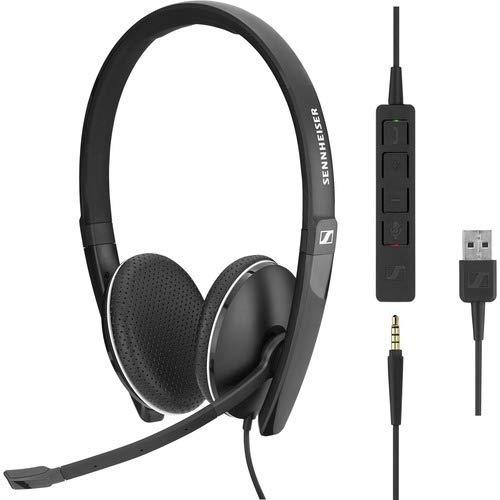 mit HD-Stereo-Sound - Doppelseitiges Headset f/ür Gesch/äftsleute 508317 Sennheiser SC 165 USB Schwarz Mikrofon mit Ger/äuschunterdr/ückung und USB-Anschluss