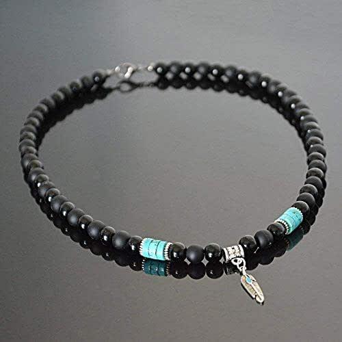 Amazon.com: Mens Necklace December Birthstone Turquoise ...