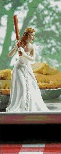 Bride Ready To Hit A Home Run Wedding Cake Topper