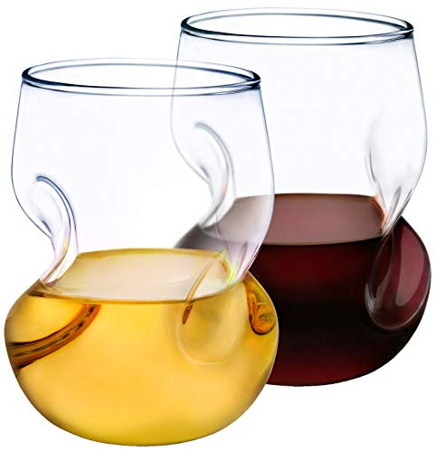 Dragon Glassware Wine Glasses, 16-Ounce Stemless Tumblers for Red and White Wine, Gift Boxed – Set of 2