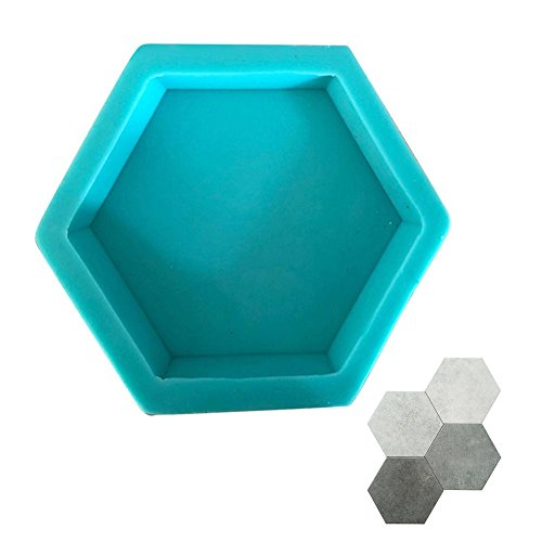 Splendidsun Geometric Shape Wall Concrete Wall molds, TV Background Decoration Wall Brick Silicone molds , Hexagon Wall Tile Handicraft Silicone ()